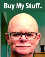 Chuck Moran as a bald shop marketer guy