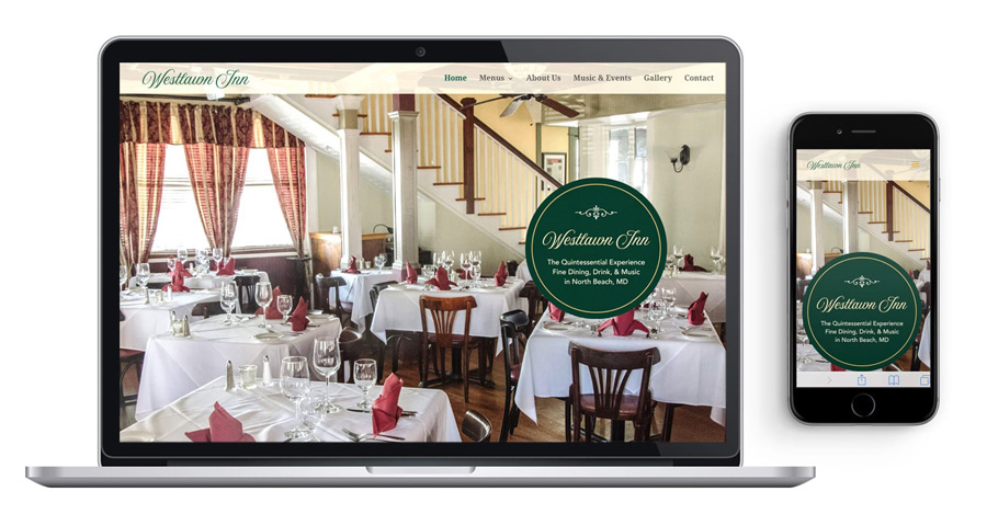 The Westlawn Inn website is also mobile-friendly
