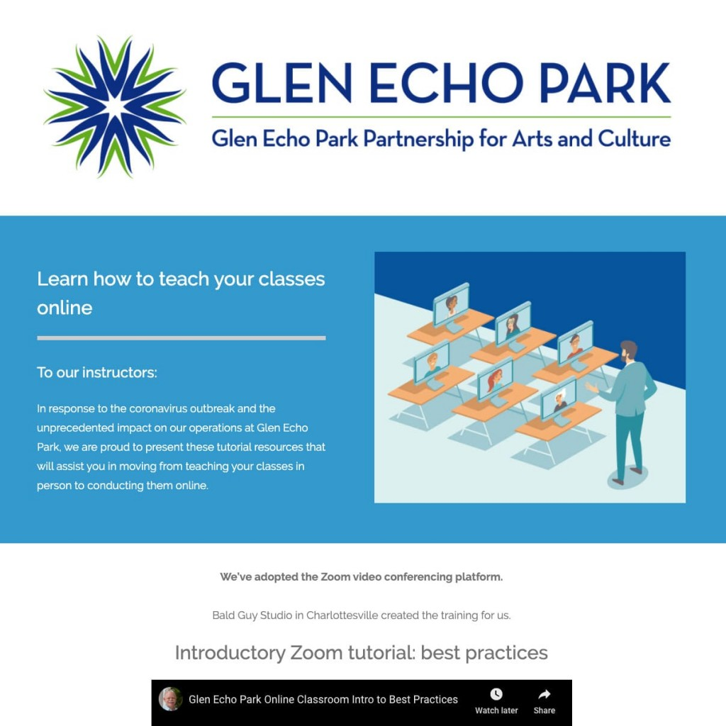 Case Study: Glen Echo Park Art Instructor Training